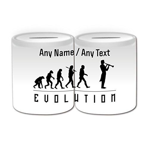 Personalisiertes-Geschenk-Klarinette-Spardose-Evolution-Full-gewickelt-Thema-wei-alle-NachrichtName-auf-Ihre-einzigartige-Player-Silhouette-Outline-Contour-Event-Hobby-Klassische-Musik-Musiker-Woodwin