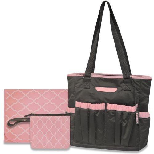 Gerber Tall Nylon Diaper Tote Bag, Grey/Pink by Gerber (English Manual)