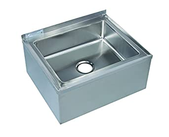 Tarrison MS16206 Heavy Duty Stainless Steel Mop Sink with Drain Basket ...