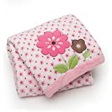 Carter's Easy Printed Embroidered Boa Blanket, Floral Mix (Discontinued by Manufacturer)