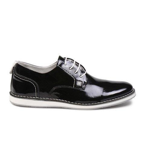 CR7 Cristiano Ronaldo Men Grunge Derby Shoe 01 Patent 45 EU Black