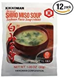Kikkoman Instant Shiro Miso Soup, 1.05-Ounce Units (Pack of 12)