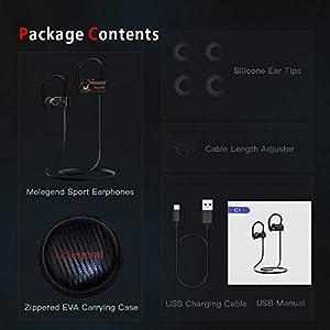 Bluetooth Headphones Waterproof IPX6, Bluetooth Sports Headsets Wireless Earbuds Sport, Richer Bass HiFi Stereo in-Ear Earphones w/Mic, Case, 7-9 Hrs