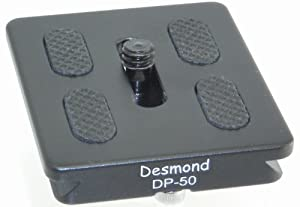 Desmond P-50 50mm QR Lens / Camera Body Plate Arca Compatible and D-Ring P50 DP-50