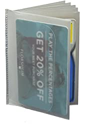 Clear Plastic Vinyl Bookfold Wallet Picture Card Insert - 6 Sleeves Marshal wallet