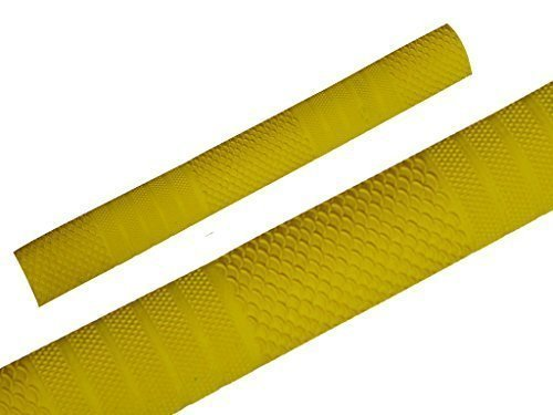 Cricket Schläger Griffe Rutschfest Ersatz Griffe Oktopus Spiral Design - Gelb Stil S03