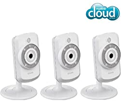 D-LINK DCS-942L Pack of 3 WiFi-N IP mydlink cameras- day / night