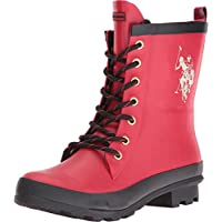 U.S. Polo Assn. Women's Jacky Rain Boot (Red/Cream/Black )