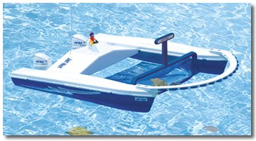 Jet Net Radio Controlled Boat Skimmer Water Toy For Swimming Pool & Beach