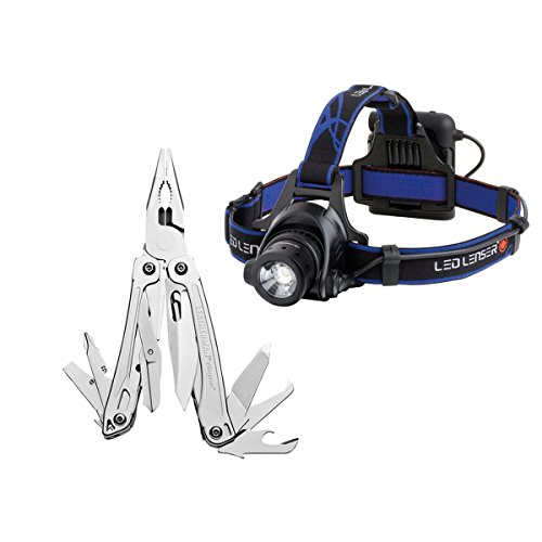 Leatherman 831425 Wingman 14-In-1 Tool With Led Lenser H14R 4-In-1 Headlamp