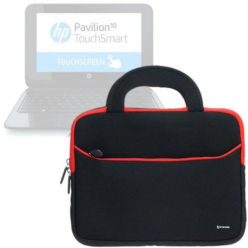 Evecase HP Pavilion 10 10-e010nr / 10-k010nr x2 Sleeve, UltraPortable Handle Carrying Portfolio Neoprene Sleeve Case Bag for HP Pavilion 10 10-e010n