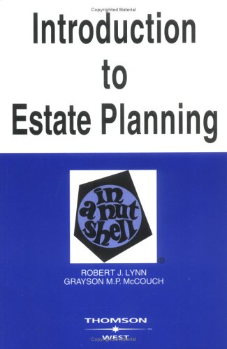 Introduction to Estate Planning in a Nutshell, Fifth...