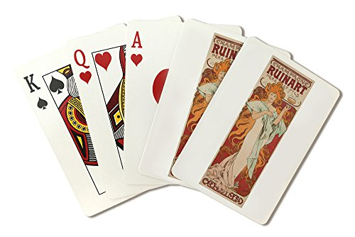 champagne-ruinart-vintage-poster-artist-mucha-alphonse-france-c-1896-playing-card-deck-52-card-poker
