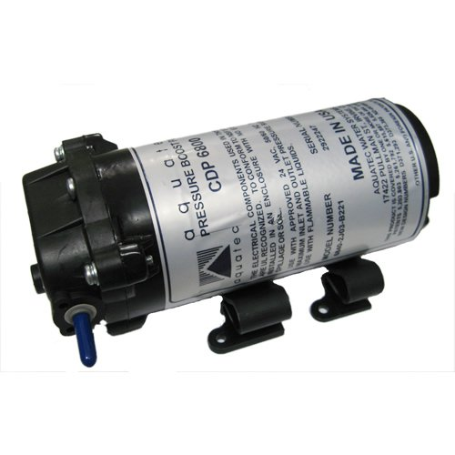 "Aquatec 6800 Series RO Booster Pump for up to 50 GPD 1/4""JG 24 VAC 6840-2J03-B221S"