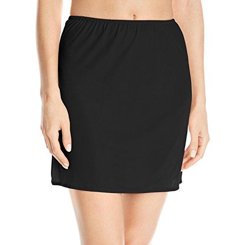 Vassarette Women's Smooth and Cool Half Slip 11003, Black Sable-16 Inch, Small