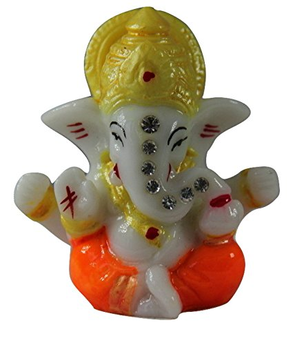 Venus Creation Ganesh Idol For Car Dashboard   Home Decor   Gifting   Size 2.5 inches   Code DM1 (Color Assorted)  available at amazon for Rs.99