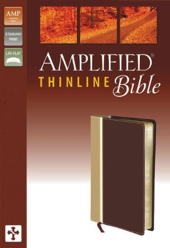 Amplified, Thinline Bible, Imitation Leather, Tan/Burgundy, Lay Flat PDF