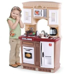 Toy / Game Step2 Lifestyle Fresh Accents Kitchen With Lid Activate Electronic Frying And Boiling Water Sounds