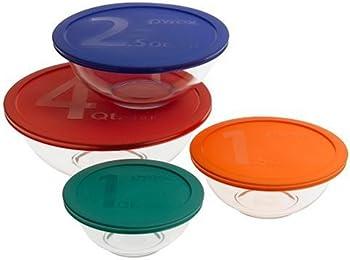 Pyrex 1086053 8 Pc. Bowl Set