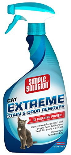 Simple Solution Extreme Cat Stain & Odor Remover Spray, 32 fl. oz.