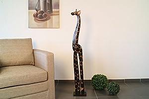 Giraffe 150 cm Holz Deko Afrika Dekoration handgeschnitzt