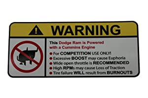 Amazon.com: Dodge Ram Cummins No Bull, Warning decal, sticker