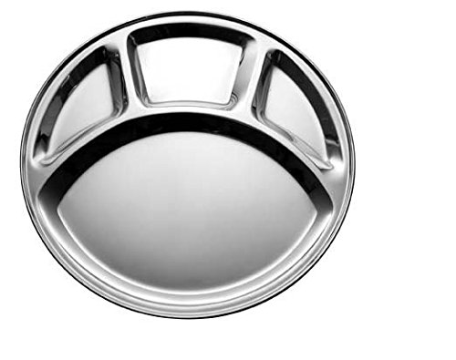 Dynamic Store Stainless Steel Round Partition Plates Set Of 6
