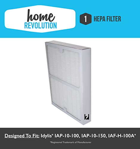 Idylis A Style Home Revolution Brand HEPA Air Purifier Filter replacement; Made to Fit Idylis Air Purifiers IAP-10-100, IAP-10-150; Model # IAF-H-100A (Air Purifier Filter Idylis compare prices)