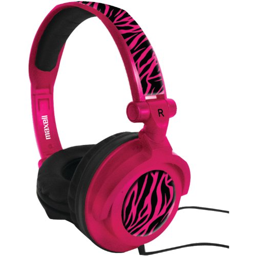 Maxell 190220 Amp-Pz Amplified Heavy Bass Headphones, Hot Pink