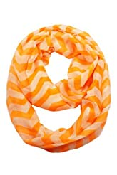 New Orange//Blue Flower Dot Light Weiget  X-Lgrge Infinity Scarf Loop Cowl