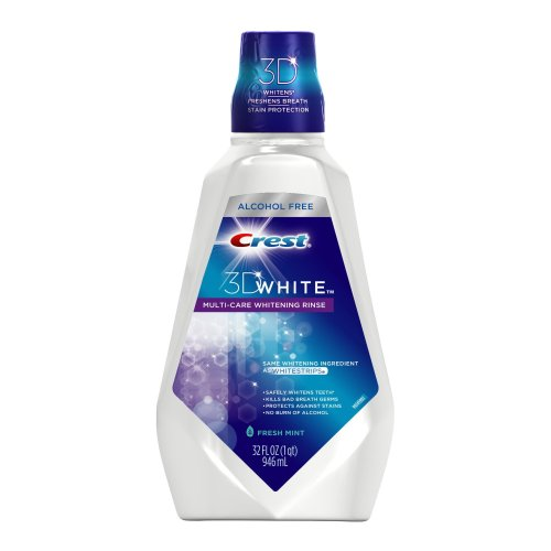Crest 3D White Whitening Rinse, Fresh Mint, 32 fluid ounces Bottle (Pack of 3) Packaging may Vary