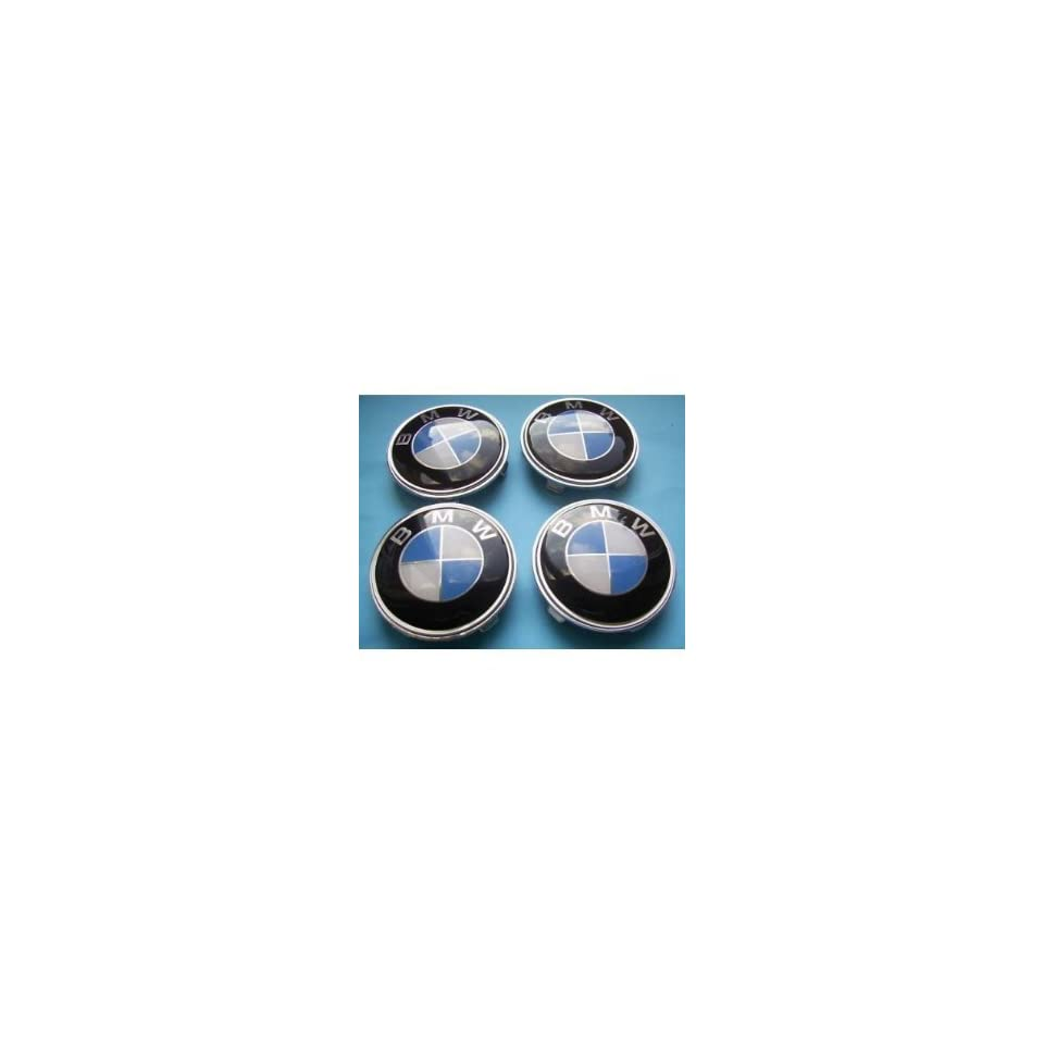BMW Standard Blue & White alloy wheel centre caps Hub Cover Badges