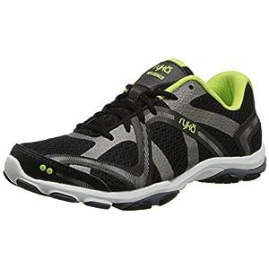 RYKA Women's Influence Cross-Training Shoe, Black/Sharp Green/Forge Grey/Metallic, 8.5 M US