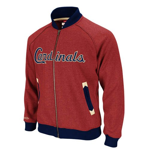 MLB St Louis Cardinals Intrasquad Track Jacket Mitchell Ness Cooperstown SM Mens at Amazon.com