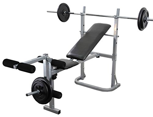 weight-training-bench-set-multi-gym-with-leg-extension-6ft-bar-30kg-weight-plates-complete-weight-li