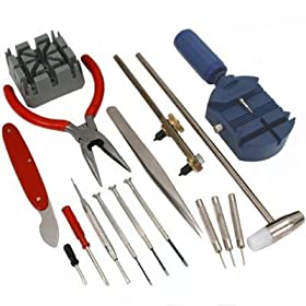16 PC Deluxe Watch Opener Tool Kit Repair Pin Remover $9.50