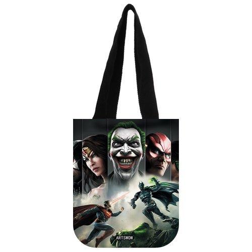 """ARTSWOW Batman, riutilizzabile, motivo: tela Eco Shopping Tote-Borsa da donna Tote, 01, 2 lati, Tela, color-3, 12.2"""" x 11"""" x 3.3"""""""