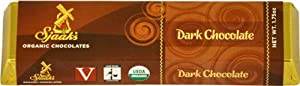 Sjaak's Organic Chocolate Bar, Dark Chocolate, 1.75-Ounce Bars (Pack of 9)