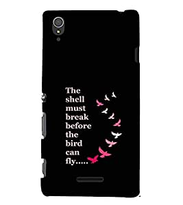 EPICCASE Bird can Fly Mobile Back Case Cover For Sony Xperia T3 (Designer Case)