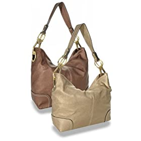 Pale Gold Classic Hobo Handbag