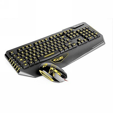 Mch-Dare-U 3 Led Colors Usb Wired Gaming Mouse Keyboard Combo Set