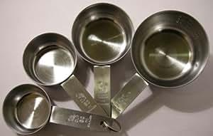Bechermaß - Cup-Maß Set - 4-teilig - Edelstahl
