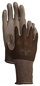 Atlas Glove Atlas NT370 Nitrile Garden and Work Gloves, Black Tulip, Small