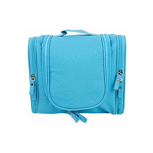 Business Essentials vacanza viaggio Kit organizzatore appendere borsa da toilette con gancio per viaggio Accessori, trucco, cosmetici Shampoo blu