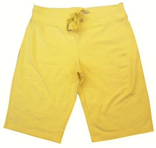 Women's Calvin Klein Sweatpant Bermuda Shorts (Yellow, XXL)