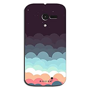 Mozine Blue And Grey Clouds printed mobile back cover for Motorola Moto X 1s...