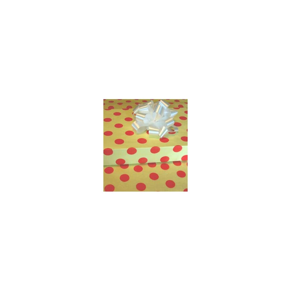Yellow Polka Dot Gift Tissue Paper 10 Sheets
