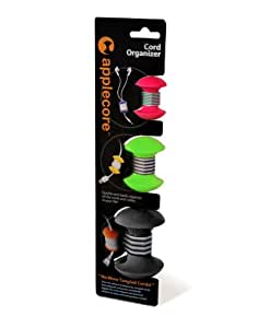 AppleCore Cable Organizer 3 Pack Combo (Red, Green, Black)