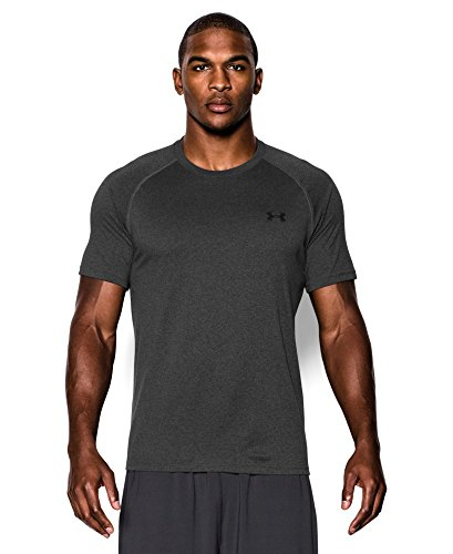 Men's UA TechTM Shortsleeve T-Shirt Tops by Under Armour Large Carbon Heather black Large