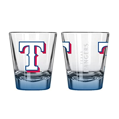 MLB Texas Rangers Elite Shot Glass Set (2-Pack), 2-Ounce